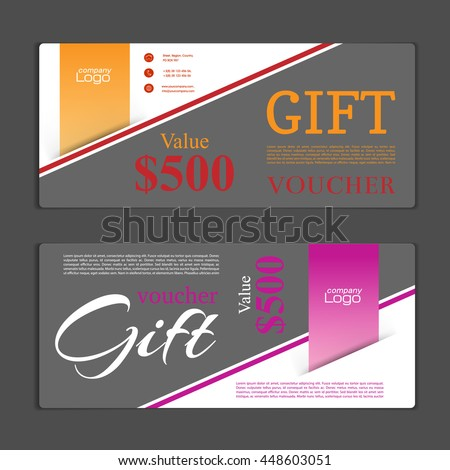Gift Voucher Template Can Be Use Stock Vector 448603051 - Shutterstock