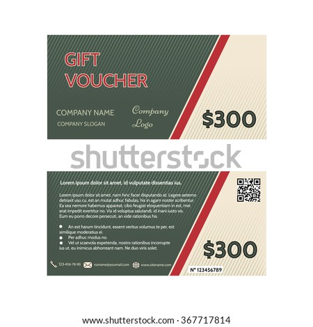 Gift Voucher Template Discount Certificate Coupon Stock Photo (Photo ...