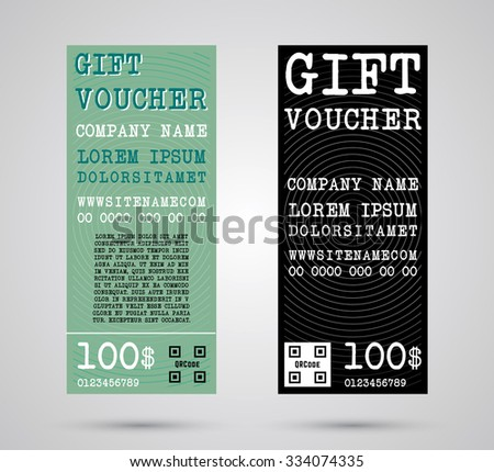 Gift Voucher Template. Flyer Simple Design Layout. Vector Illustration.