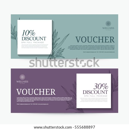 Gift voucher template spa hotel resort stock vector for Hotel voucher design