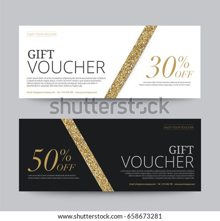 gift voucher template promotion sale discount stock vector 658673281