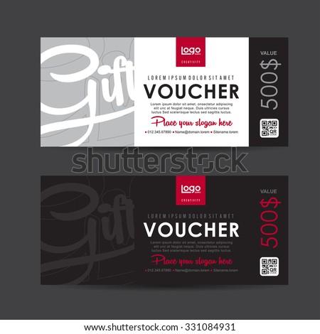 Gift voucher template,Vector illustration - stock vector