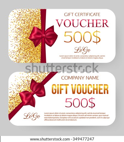Gift voucher template vector illustration stock vector 349477247 gift voucher template vector illustration yadclub Gallery