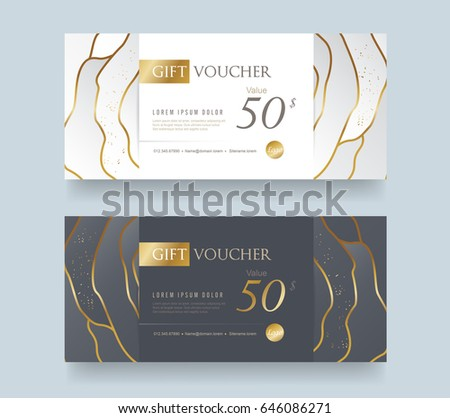 Gift voucher template .Vector illustration