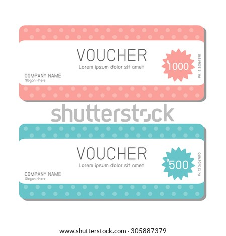 Gift Voucher Template Modern Pattern Voucher Stock Vector