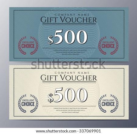 Voucher Design Vector 172761740 Shutterstock – Money Voucher Template