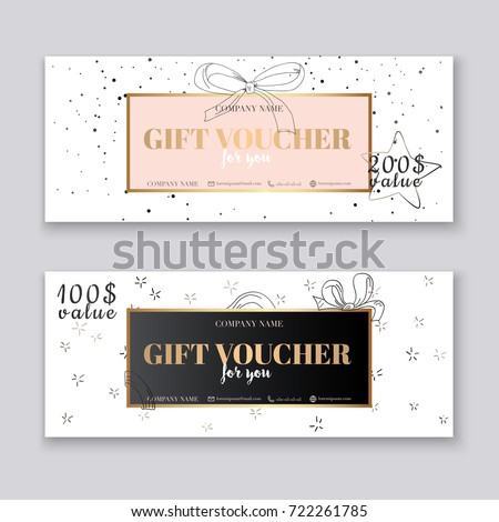 Gift voucher template gold pattern certificate gift voucher template with gold background background design coupon voucher certificate invitation yelopaper Choice Image