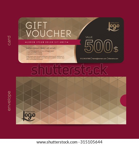 Gift voucher template premium patterngift voucher stock for Gift certificate template with logo
