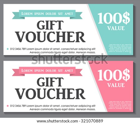 Gift Voucher Template Sample Text Vector Vector 320986676 – Sample Vouchers