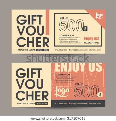 Gift voucher template with vintage pattern,retro gift voucher certificate coupon design template,Collection gift certificate business card banner calling card poster,Vector illustration - stock vector