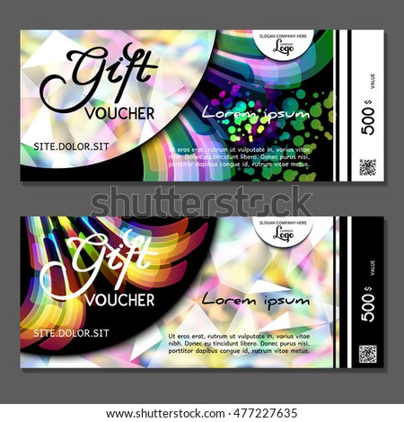 Gift voucher. Vector, illustration.