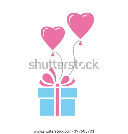 Gift heart balloon vector icon color stock vector 399503701 gift with heart balloon vector icon color illustration negle Gallery