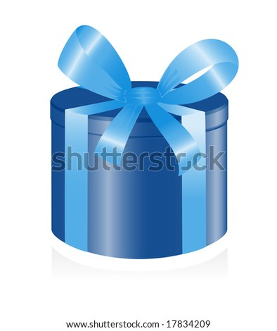 Giftbox with ribbon. Vector-Illustration