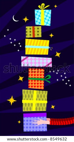 gifts for you - stock vector