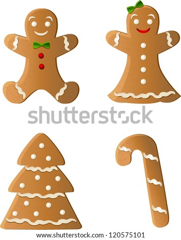 Gingerbread - stock vector