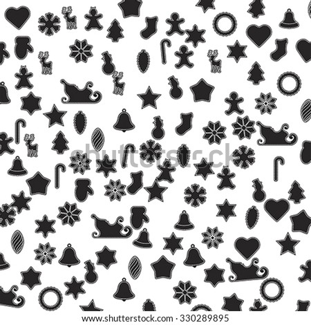 Gingerbread background, wraping paper, vector  - stock vector