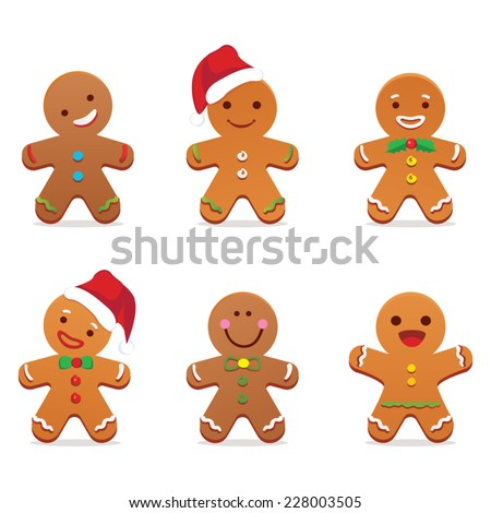 Gingerbread man - stock vector