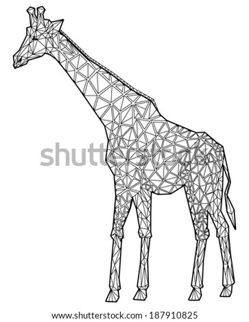 Giraffe abstract isolated on a white backgrounds - stock vector
