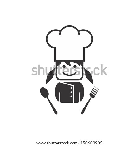 girl chef - stock vector