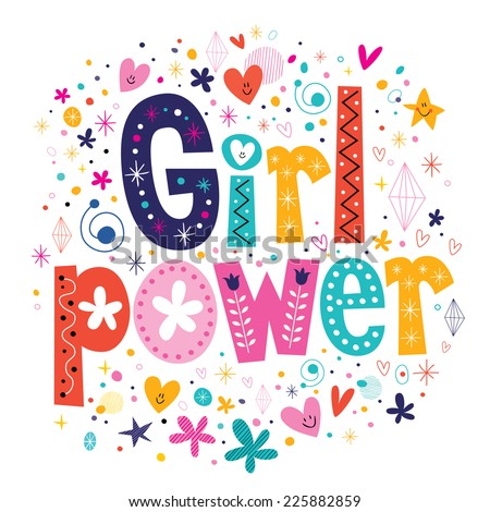 Girl power - stock vector