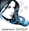 girl winter - stock vector