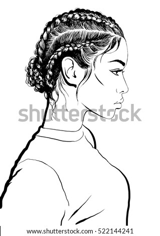 how to draw girl hair braids