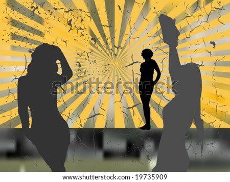 girls - stock vector