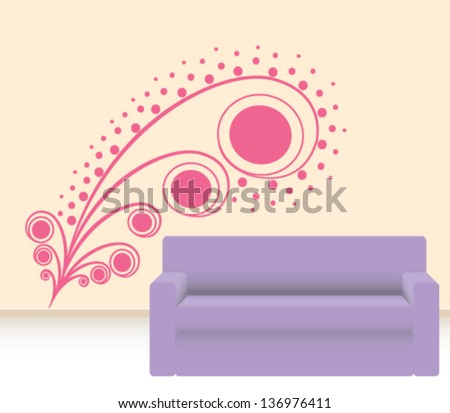Girly wall sticker for decoration