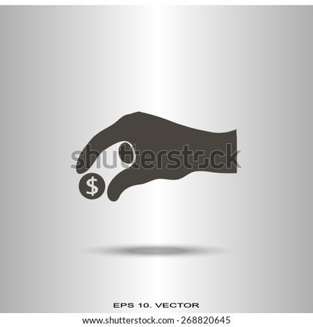 give alms, web icon. vector design - stock vector