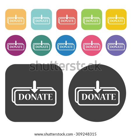 Give and donate icons set. Vector Illustration eps10 - stock vector
