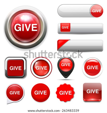 give icon - stock vector