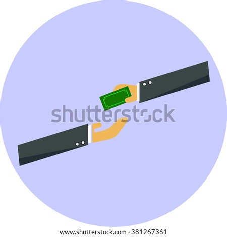 Give money,pay dept - stock vector