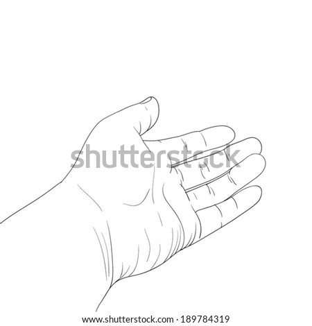 Giving Hand Drawn - stock vector