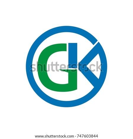 gk logo initial letter design template stock vector 747603844 rh shutterstock com gsk logo gl logo designs