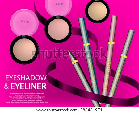 Glamorous Face Beauty Care Products Packages Stock Vector ...