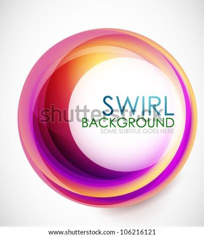 Glamorous swirl background - stock vector