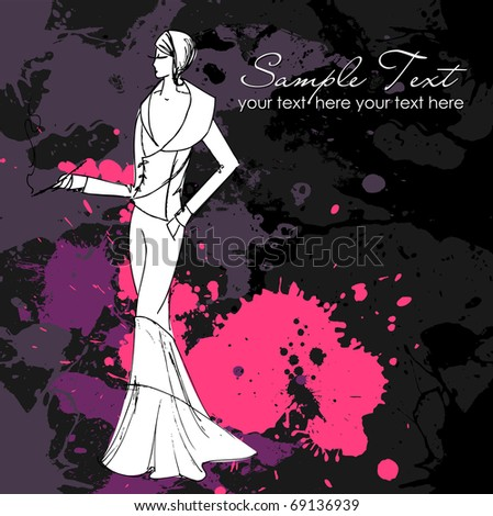 Glamorous woman - stock vector