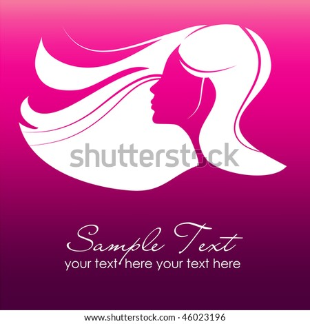 glamour girl - stock vector