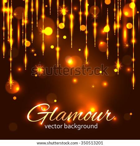 Glamour gold background. Glamorous background. Glamorous gold. Glitter background. Shiny background. Glitter background. Sparkle background. Gold sparkle background. Shiny gold background. - stock vector