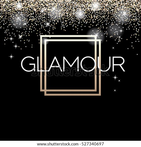 Glamour invitation card fashion show vip stock vector 527340697 glamour invitation card fashion show vip gold glitter background vector illustration stopboris Images