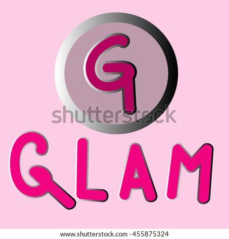 glamour logo stock vector 455875324 shutterstock