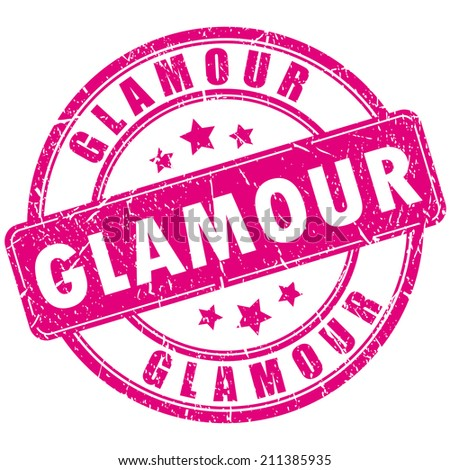 Glamour stamp - stock vector
