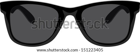 Glamour sunglasses - stock vector