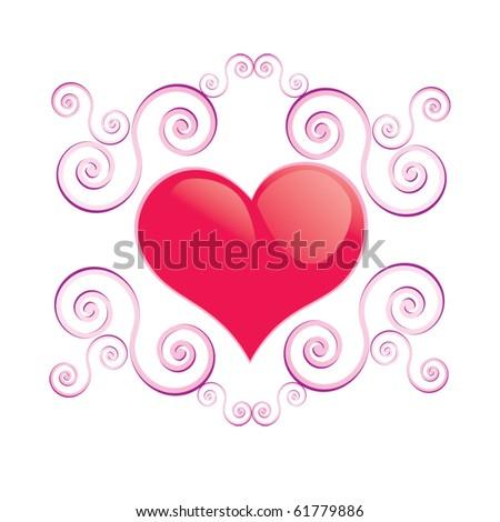 Glamour vector heart - stock vector