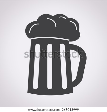 Glass beer icon - stock vector