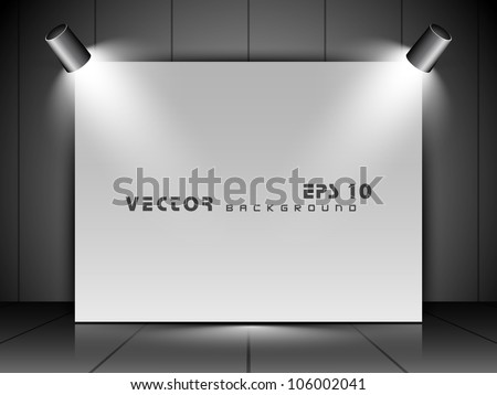 Glass billboard with text space, isolated on grey background. EPS 10. - stock vector
