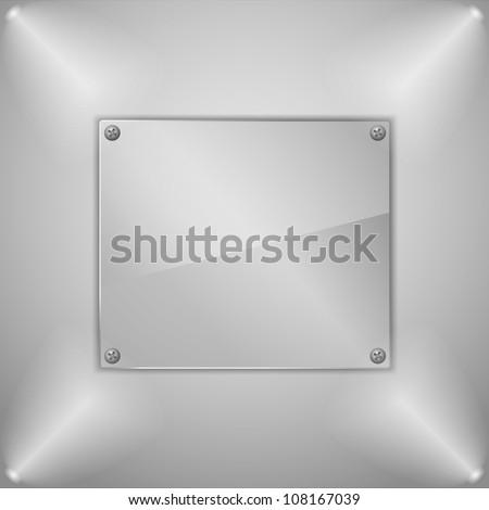 Glass board, vector eps10 illustration - stock vector