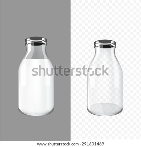 glass bottle design vector - stock vector