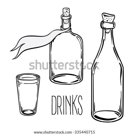 Bottle Glass Old Stock Photos RoyaltyFree Images Vectors
