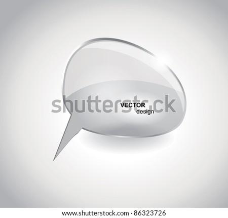 Glass bubbles for speech - stock vector